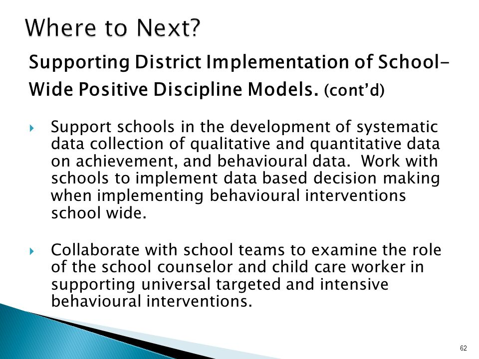 Where to Next Supporting District Implementation of School-