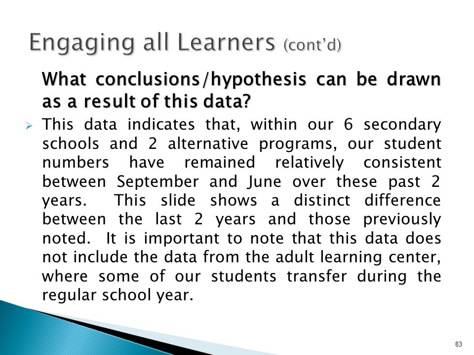 Engaging all Learners (cont'd)