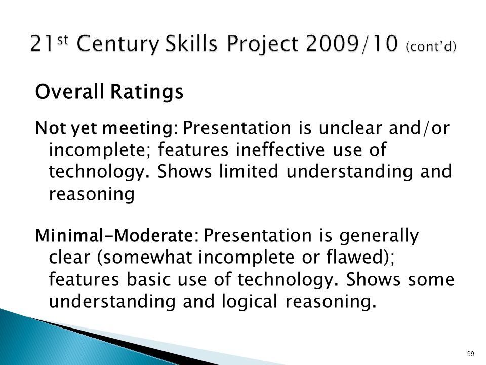 21st Century Skills Project 2009/10 (cont'd)