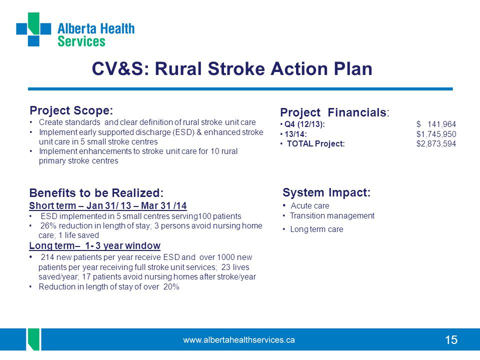 CV&S: Rural Stroke Action Plan