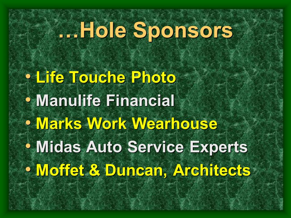 …Hole Sponsors Life Touche Photo Manulife Financial
