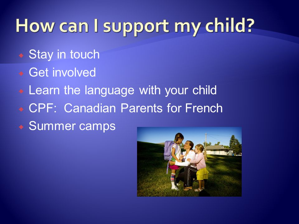 How can I support my child