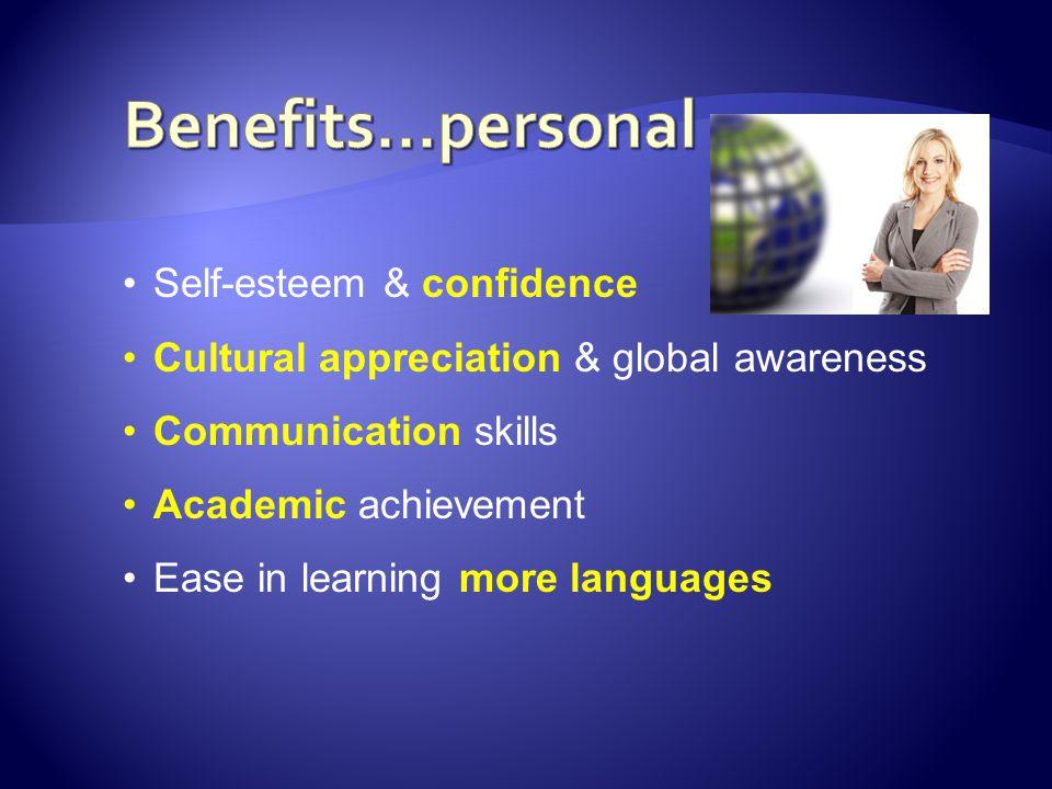 Benefits...personal Self-esteem & confidence