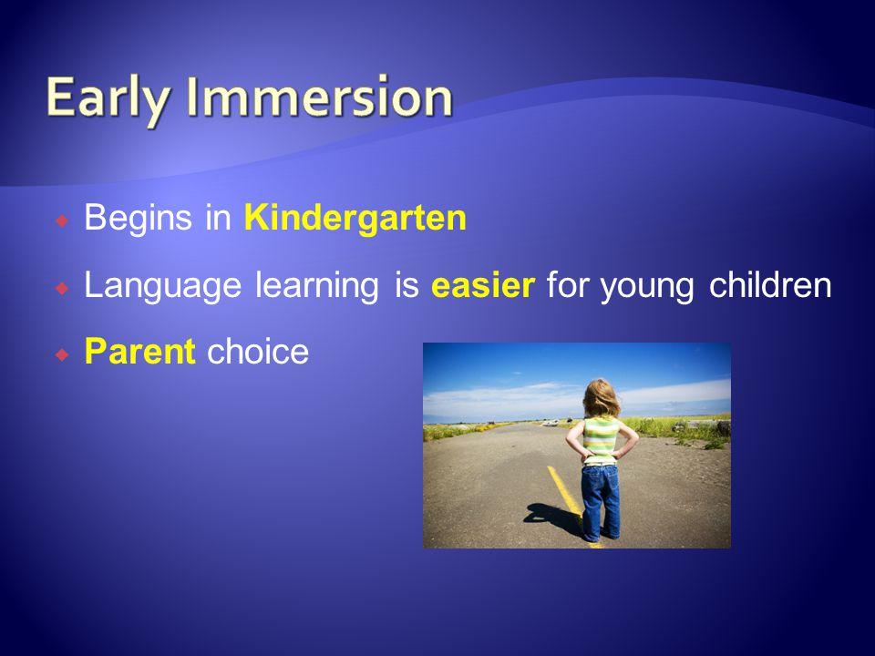 Early Immersion Begins in Kindergarten