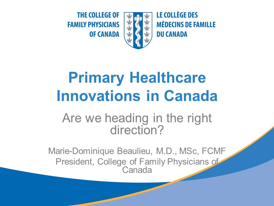 Primary Healthcare Innovations in Canada