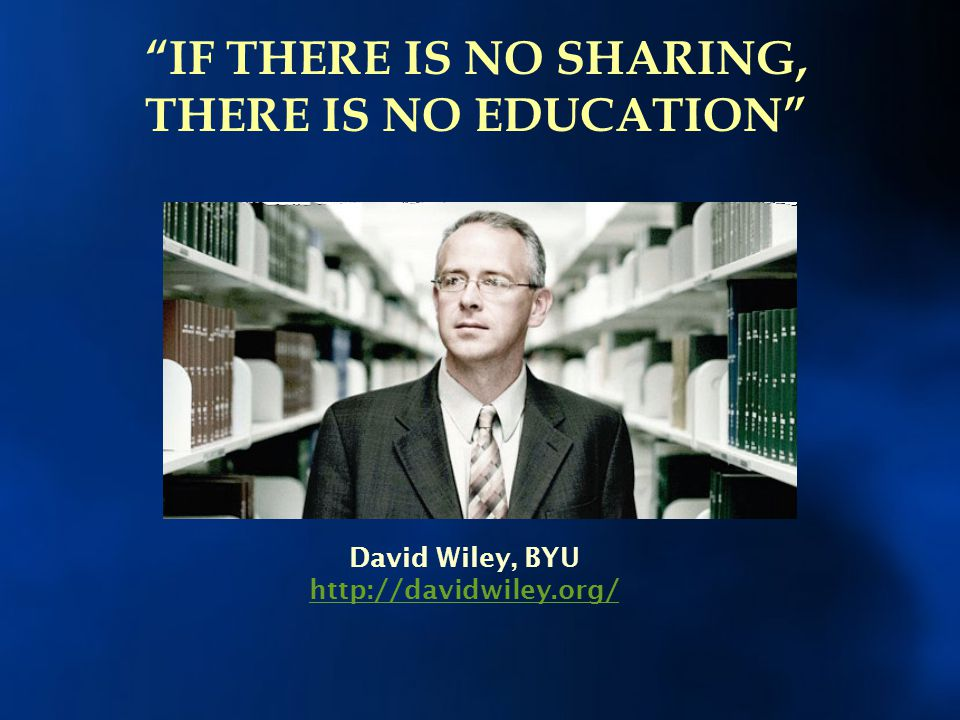 IF THERE IS NO SHARING, THERE IS NO EDUCATION