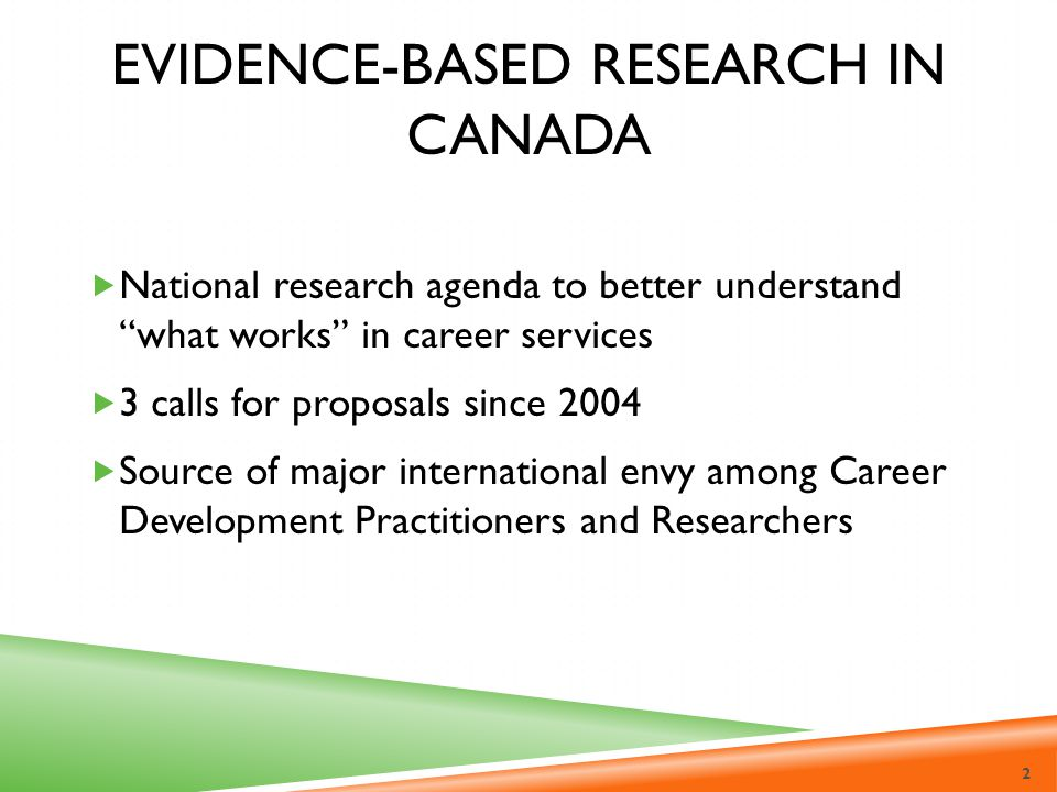 Evidence-Based Research in Canada
