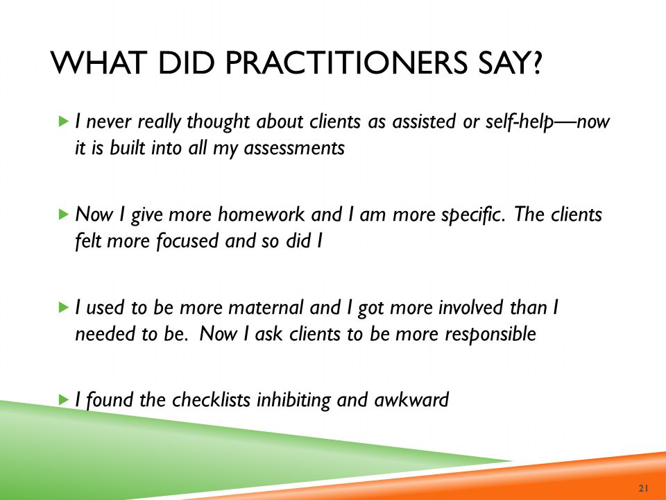 What did practitioners say
