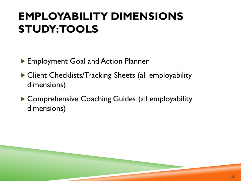 Employability Dimensions Study: Tools