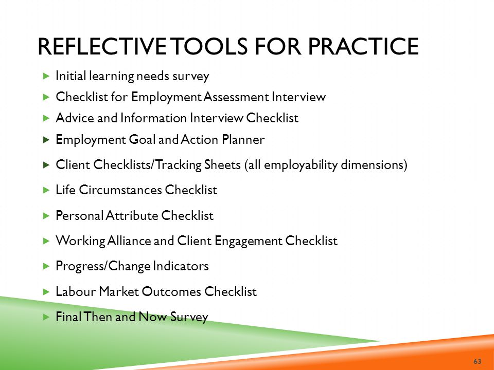 Reflective Tools for Practice