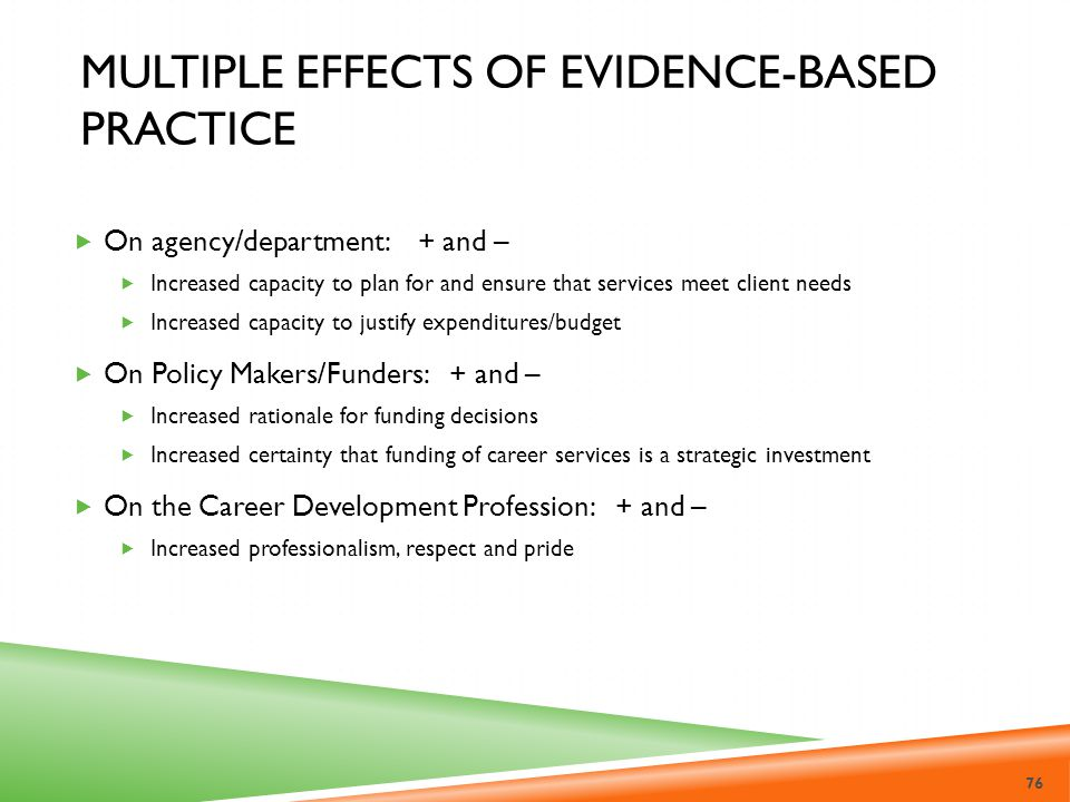 Multiple Effects of Evidence-Based Practice