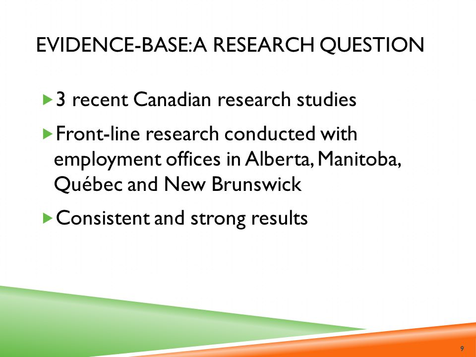 Evidence-Base: A Research Question