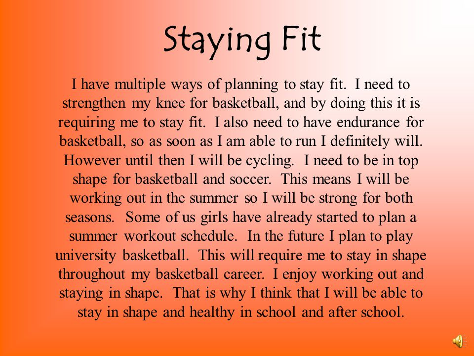Staying Fit