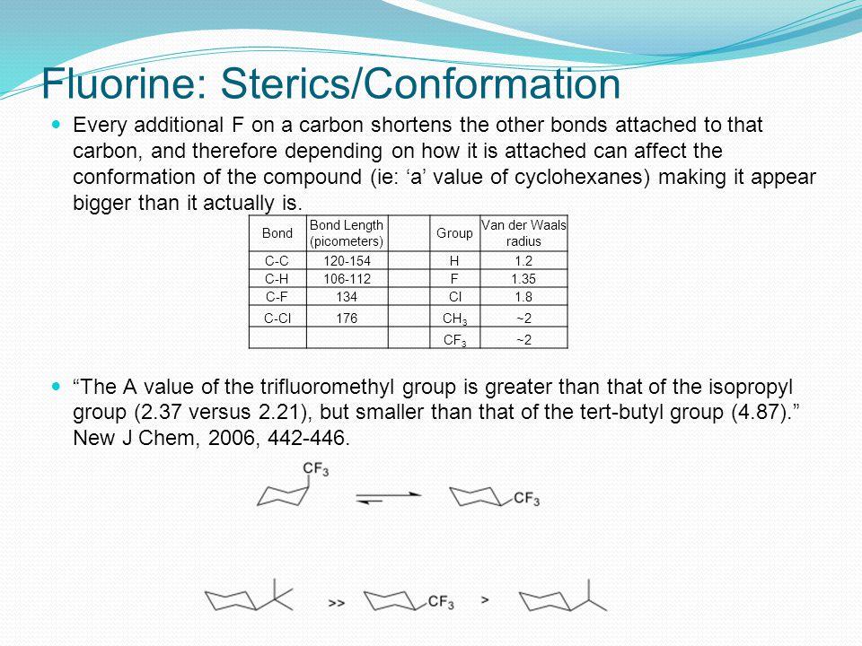 Fluorine: Sterics/Conformation