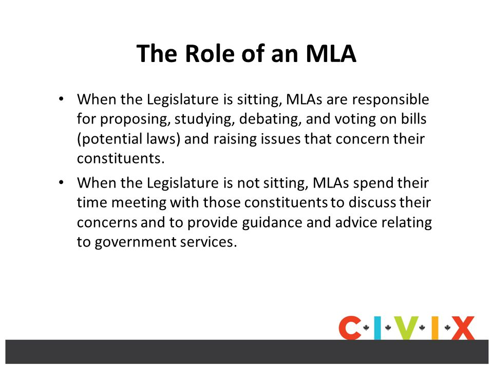 The Role of an MLA