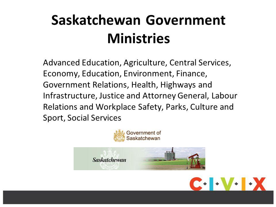 Saskatchewan Government Ministries