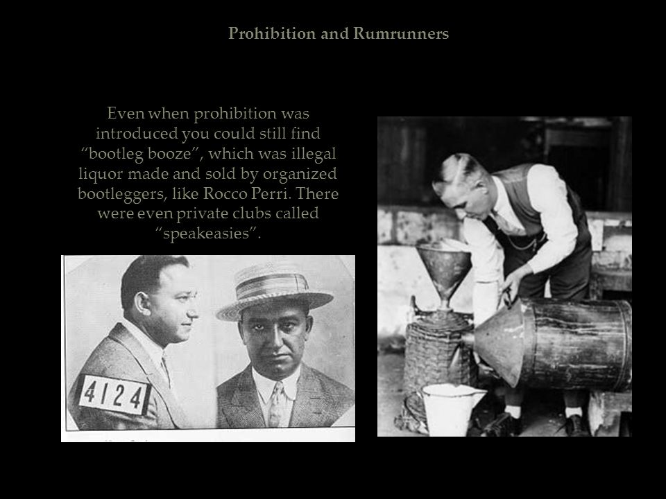 Prohibition and Rumrunners