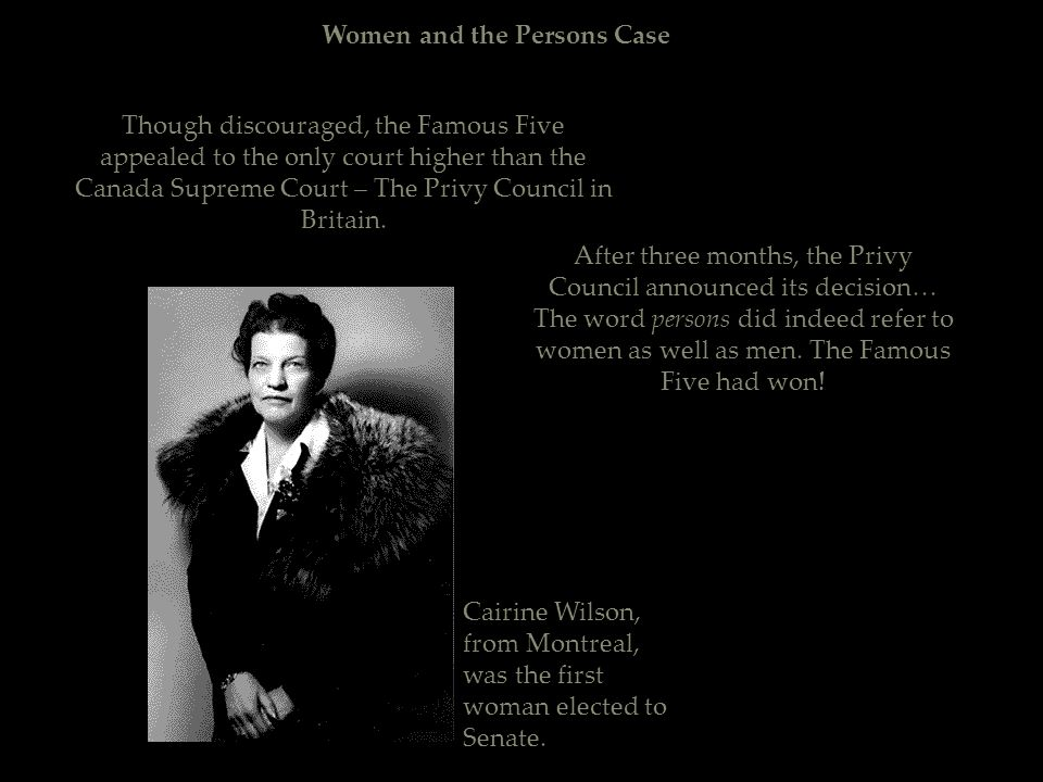 Women and the Persons Case