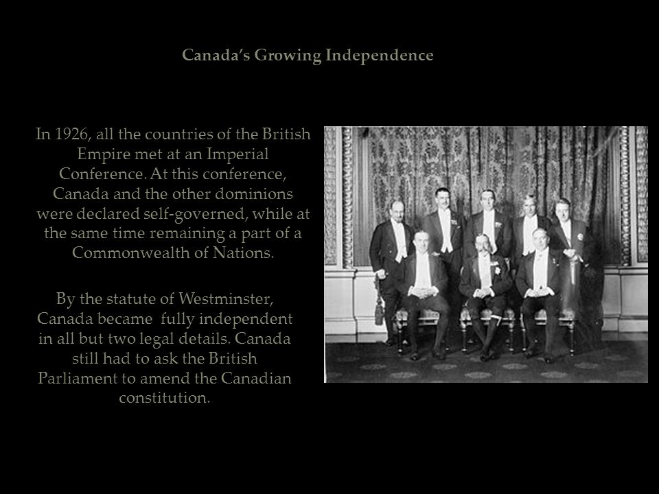Canada's Growing Independence