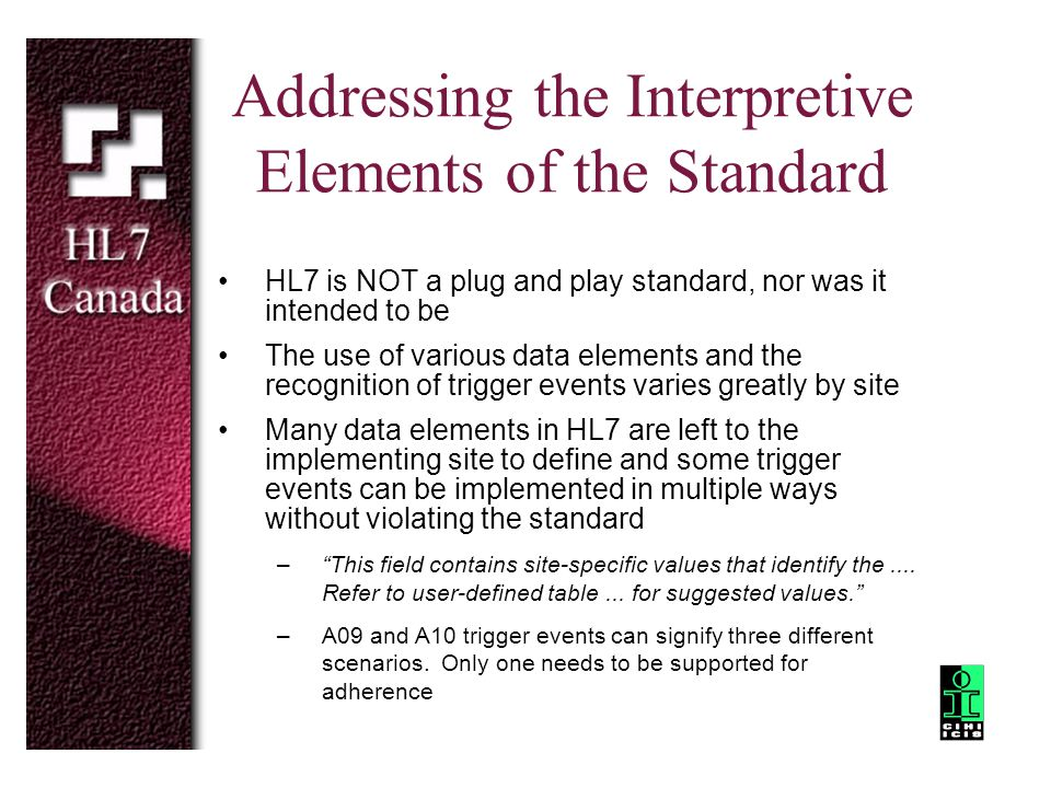 Addressing the Interpretive Elements of the Standard
