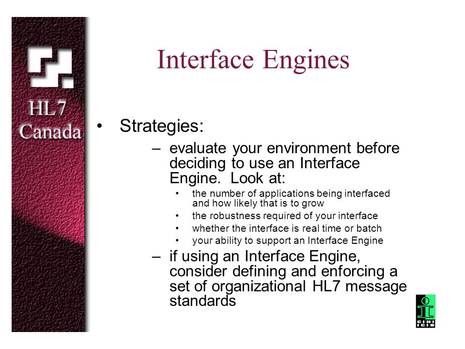 Interface Engines Strategies: