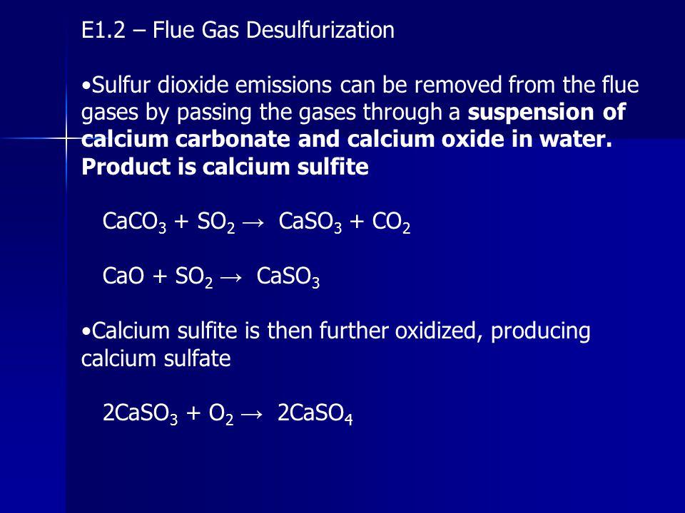 E1.2 – Flue Gas Desulfurization