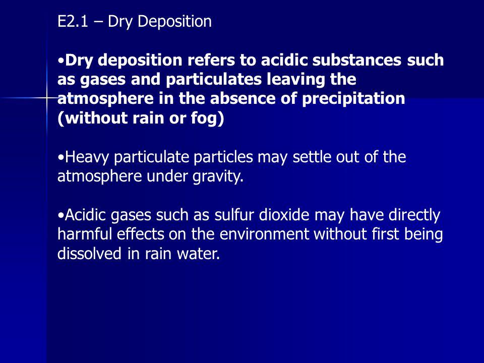 E2.1 – Dry Deposition