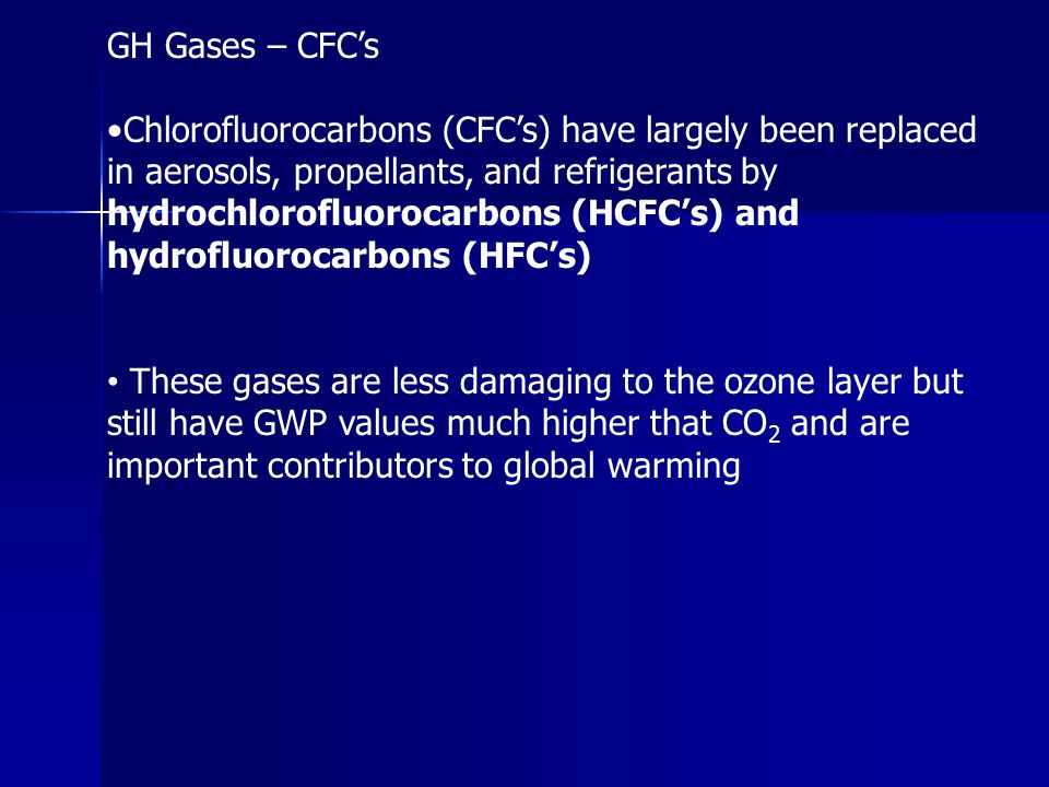 GH Gases – CFC's