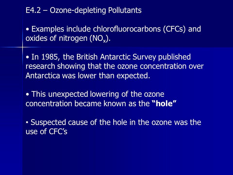 E4.2 – Ozone-depleting Pollutants