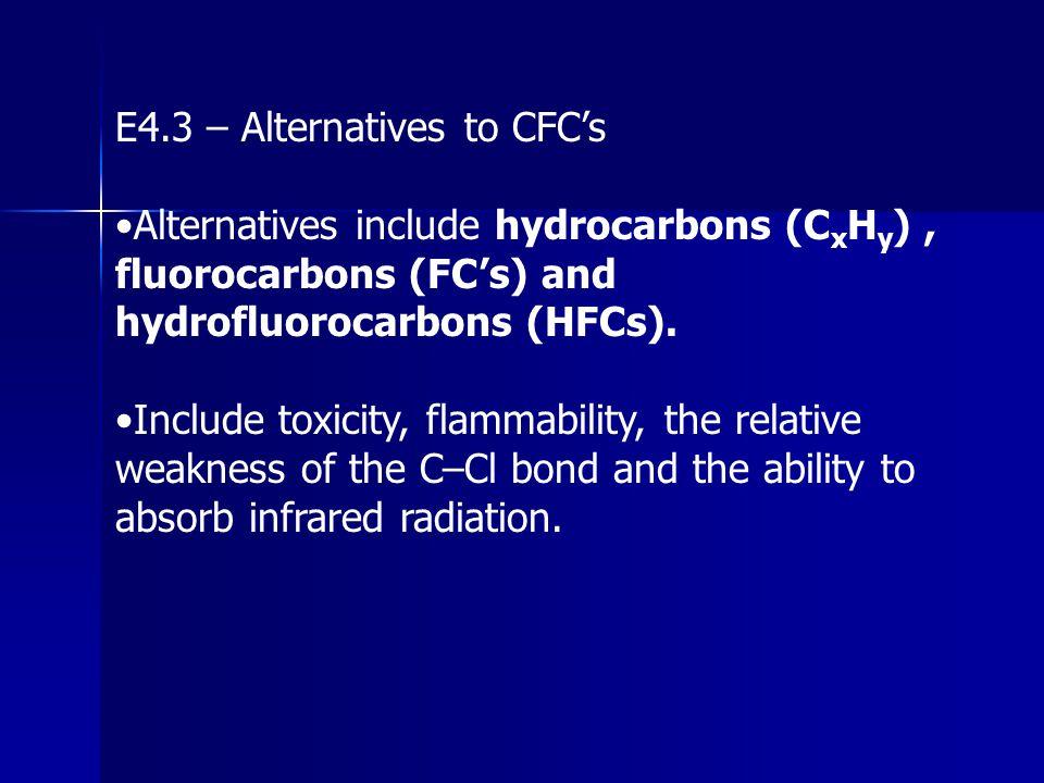 E4.3 – Alternatives to CFC's