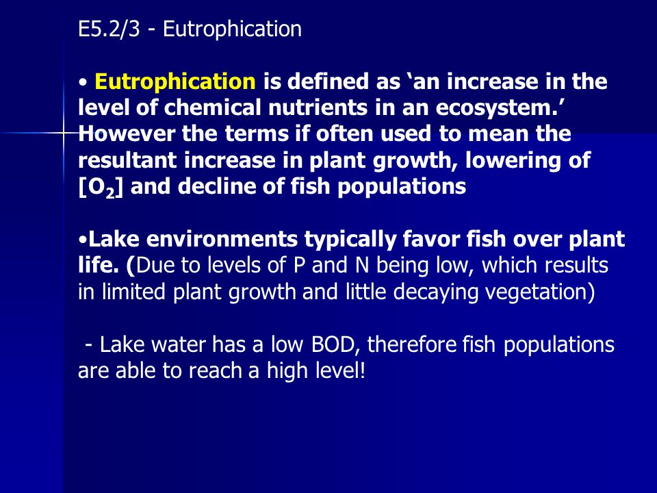 E5.2/3 - Eutrophication