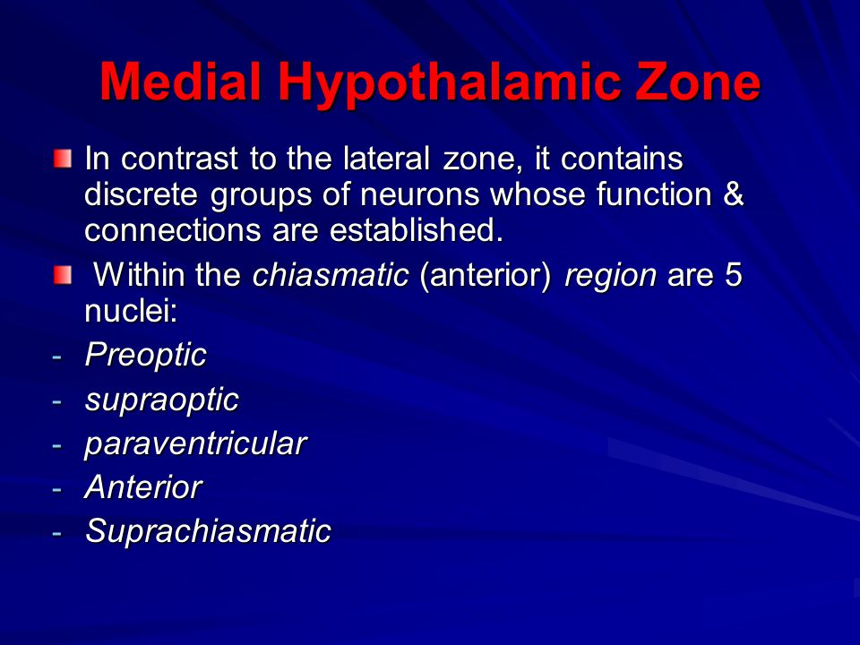 Medial Hypothalamic Zone