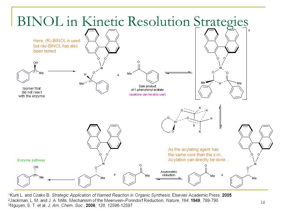 BINOL in Kinetic Resolution Strategies
