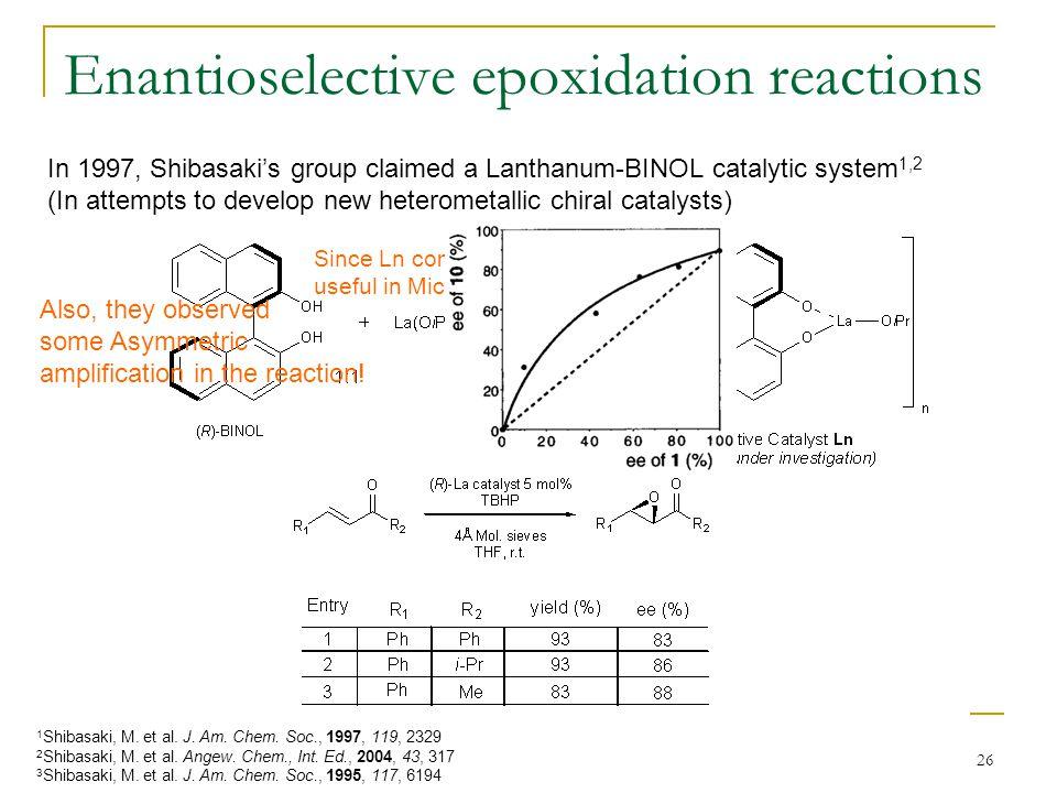 Enantioselective epoxidation reactions