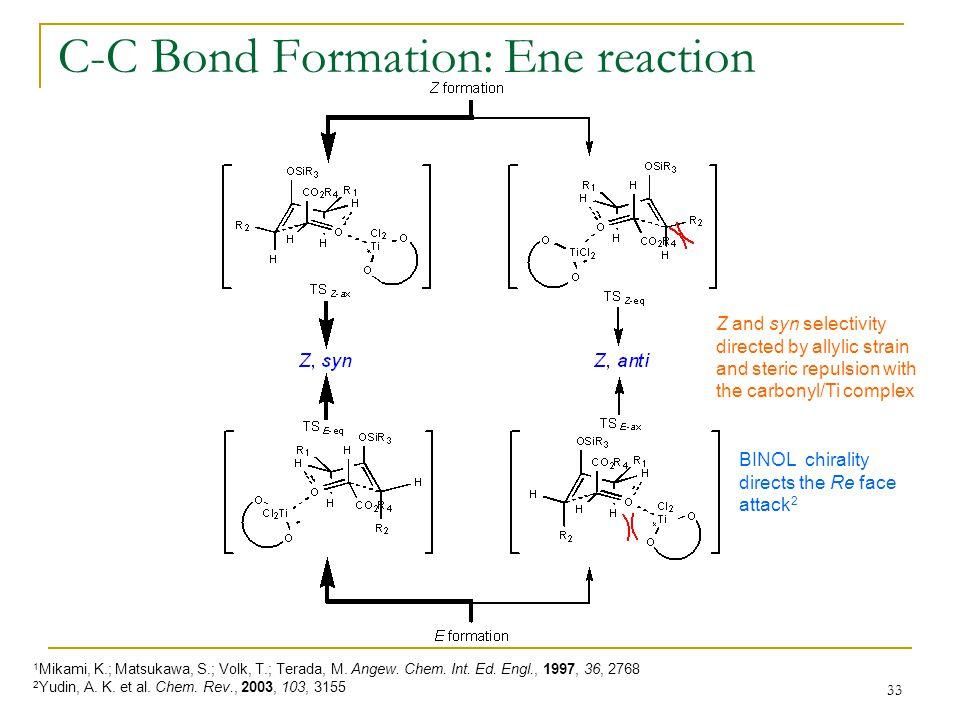 C-C Bond Formation: Ene reaction