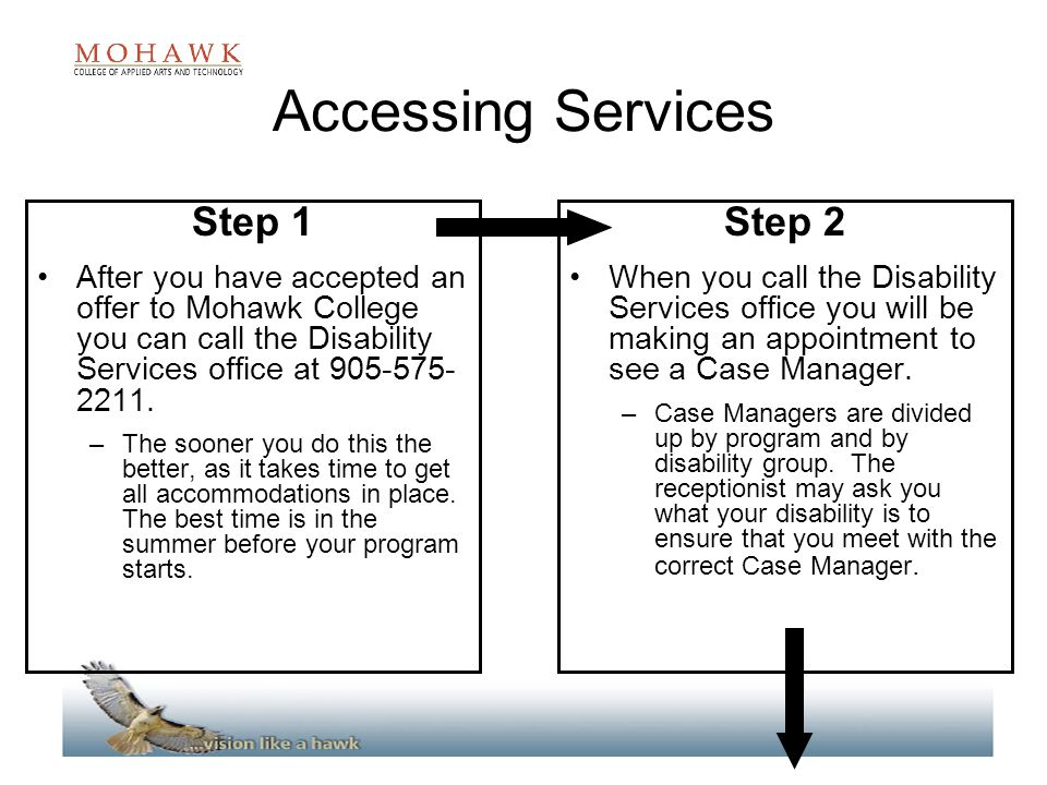 Accessing Services Step 1 Step 2