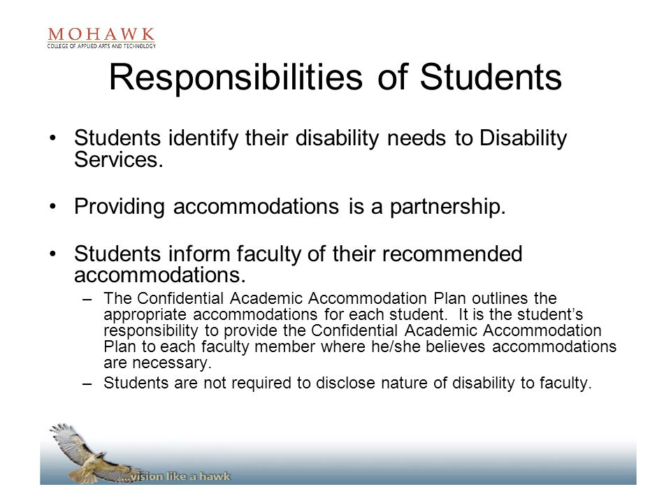 Responsibilities of Students