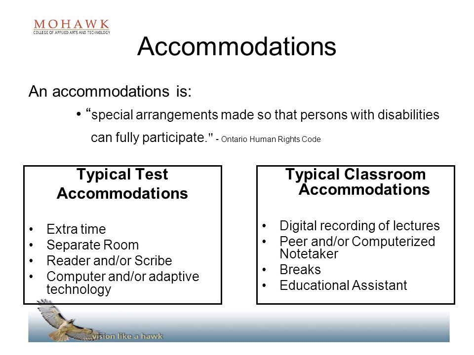 Typical Classroom Accommodations