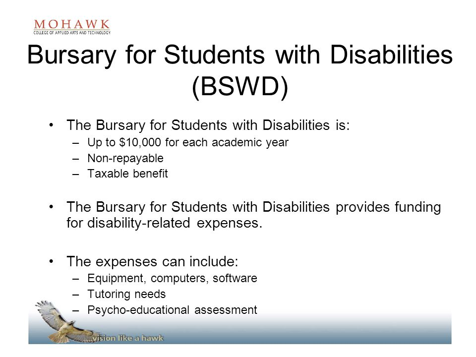 Bursary for Students with Disabilities (BSWD)