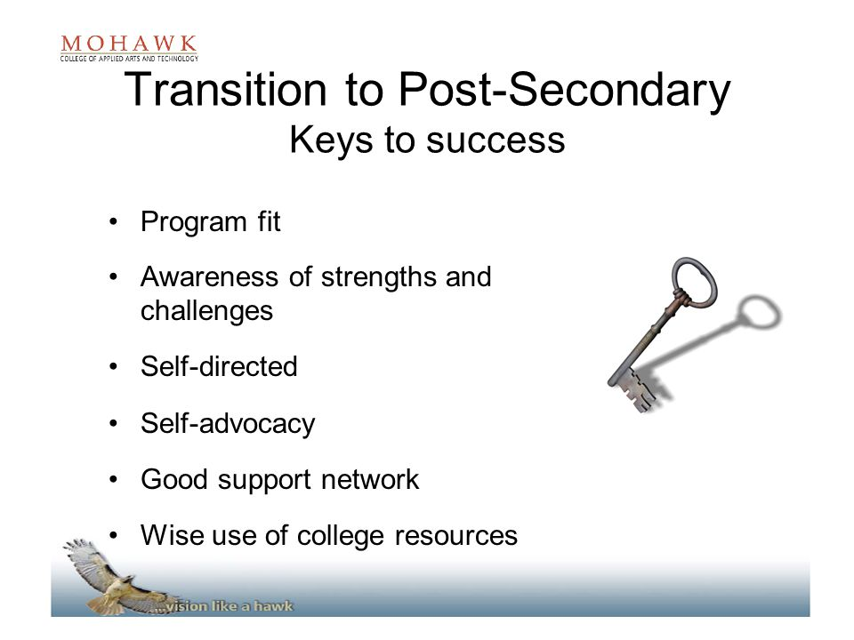 Transition to Post-Secondary Keys to success