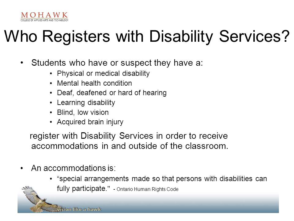 Who Registers with Disability Services