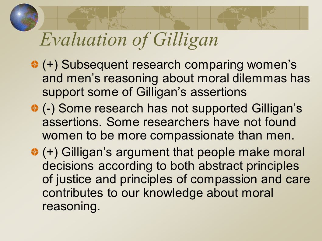 Evaluation of Gilligan
