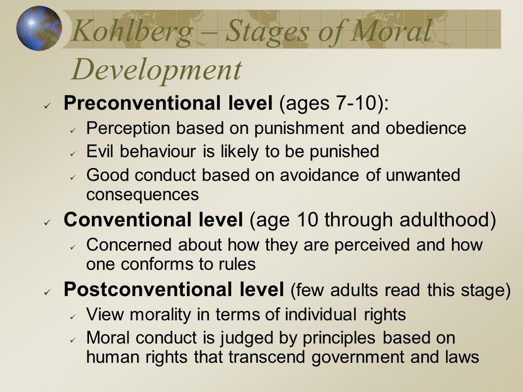 Kohlberg – Stages of Moral Development