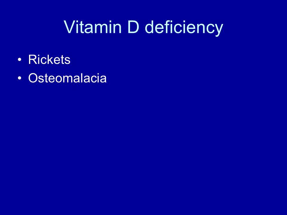 Vitamin D deficiency Rickets Osteomalacia