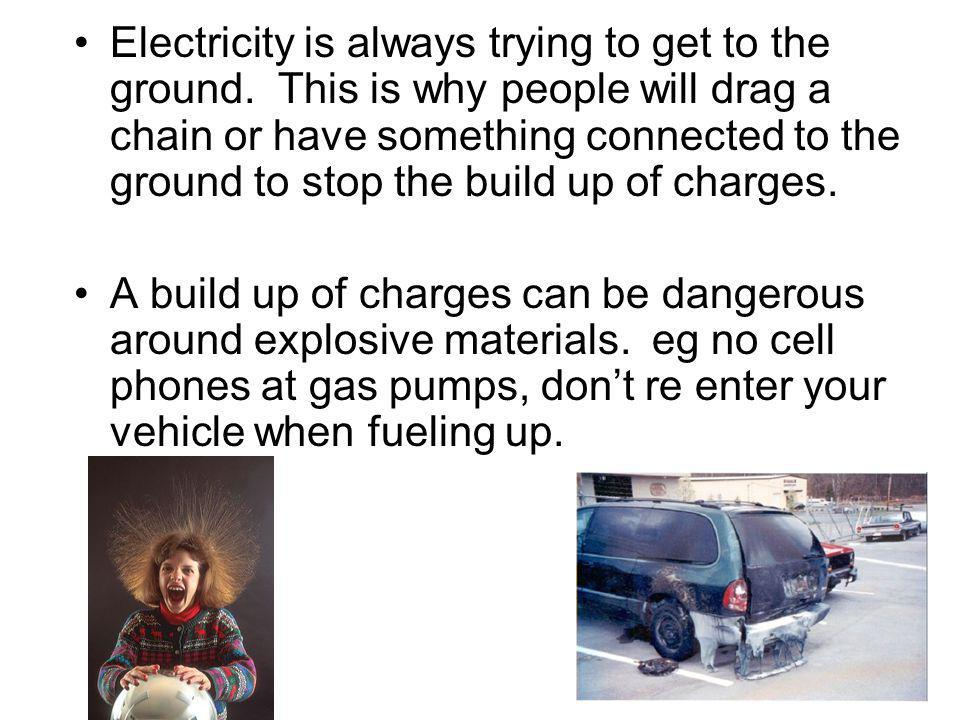 Electricity is always trying to get to the ground
