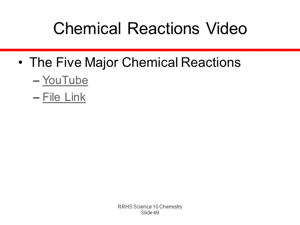 Chemical Reactions Video