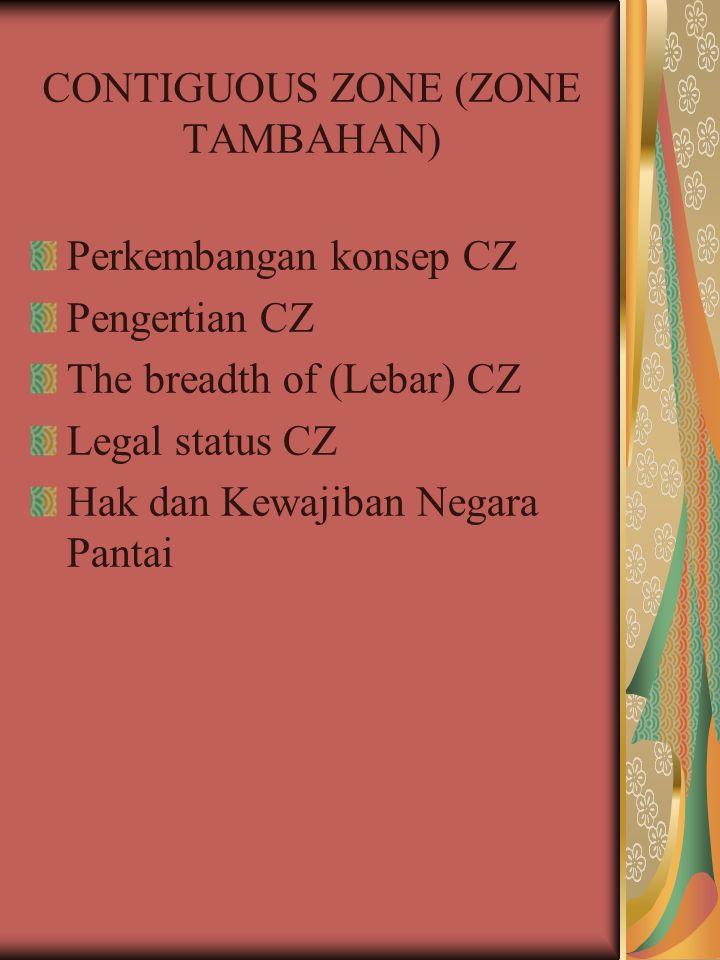 CONTIGUOUS ZONE (ZONE TAMBAHAN)