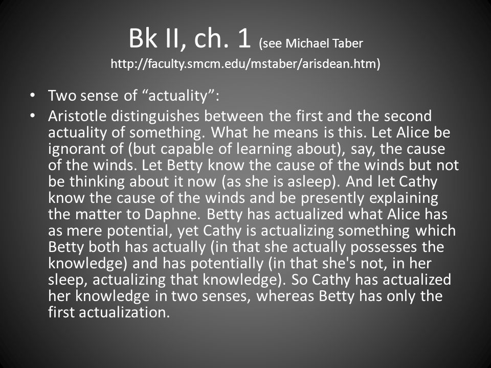 Bk II, ch. 1 (see Michael Taber http://faculty. smcm