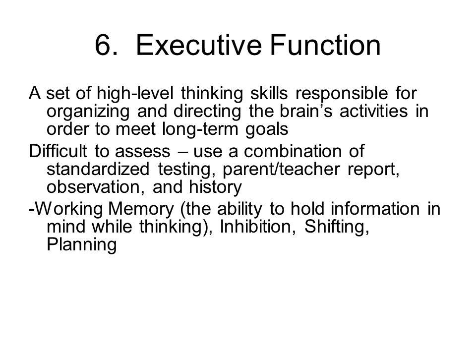 6. Executive Function