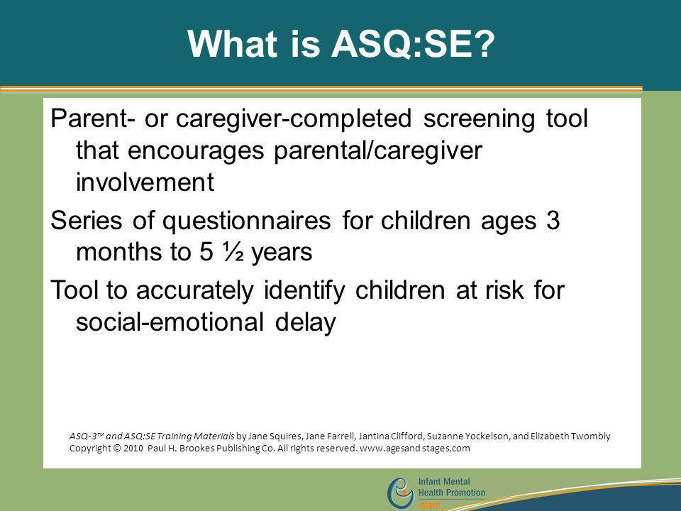 What is ASQ:SE